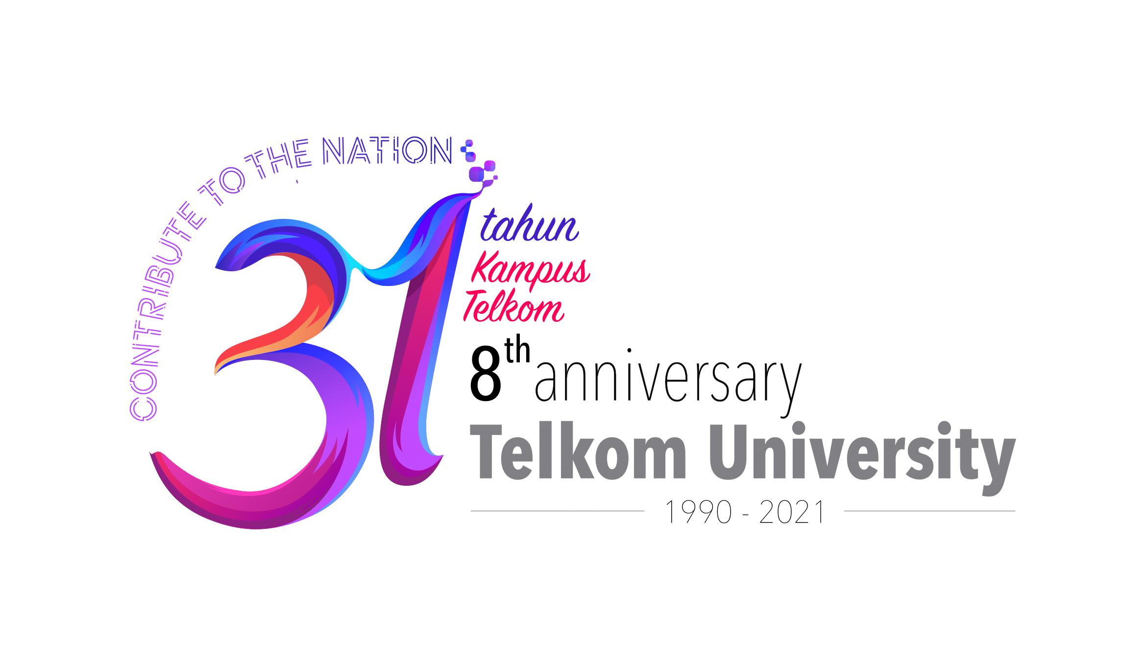 Telkom University Anniversary Logo